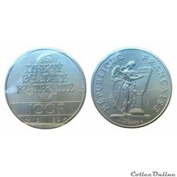 100 francs 1989 Droits de l'homme ESSAI
