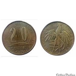 20 centimes 1961 ESSAI Rousseau
