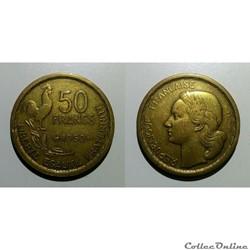 50 francs 1950 pré série à listel large