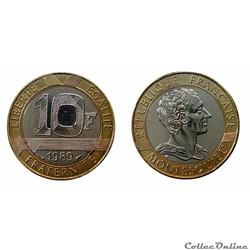 10 francs 1989 Montesquieu ESSAI