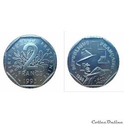 2 francs 1993 Moulin ESSAI