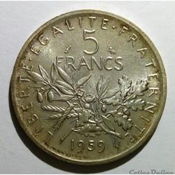 5 francs 1959 ESSAI au petit 5