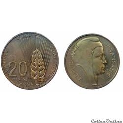 20 centimes 1961 ESSAI Coeffin