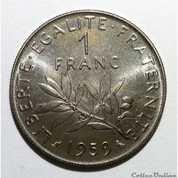 1 franc 1959 ESSAI