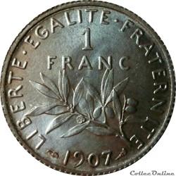 1 franc 1907 en MS63