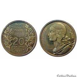 20 centimes 1961 ESSAI Lagriffoul