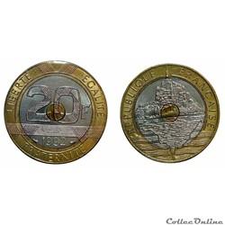 20 francs 1992 ouvert et 4 séries de can...