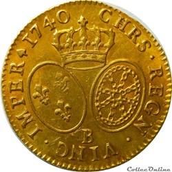 Louis d'or 1740 B au bandeau