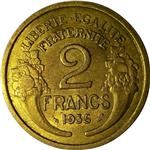 Série 2 francs Morlon avec variétés et changement de type