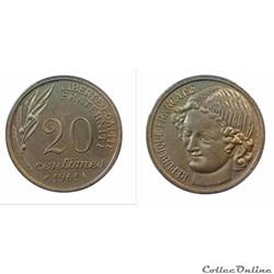 20 centimes 1961 ESSAI Baron