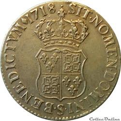Ecu de 1718 S de France-Navarre