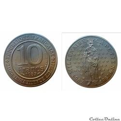 10 francs 1987 Capétien ESSAI
