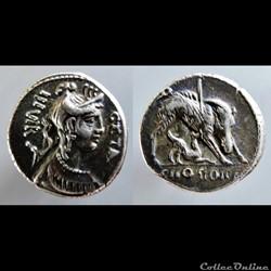 C. Hosidius C.f. Geta, moneyer. AR Denar...