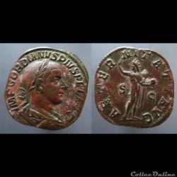 Gordian III, AE Sestertius: AETERNITATI ...
