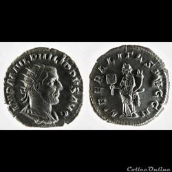 Philip I, AR Antoninianus: LIBERALITAS AVGG II (Liberalitas)