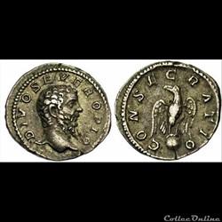 Caracalla, AR Denarius: Consecratio (Div...
