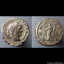 Caracalla, AR Denarius: MONETA AVG (Mone...