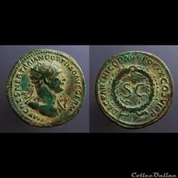 Trajan, AE As: S C
