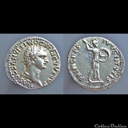 Domitian as Caesar under Titus, Denarius
