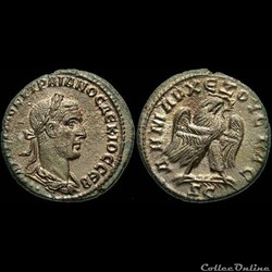 Trajan Decius, Billon Tetradrachm: Eagle