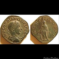 Gordian III, AE Sestertius: P M TR III C...