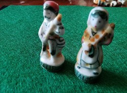 Couple de musiciens porcelaine