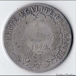 1 franc Cérès 1872 Grand A