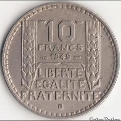 10 FRANCS TURIN Petite Tête 1948 B
