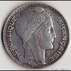 20 FRANCS TURIN 1938