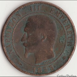 10 centimes Napoléon III tête nue 1853 B...