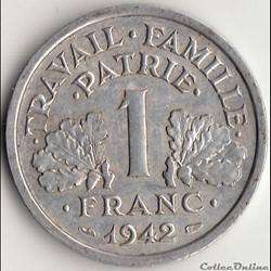 1 FRANC FRANCISQUE 1942