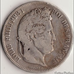 5 francs IIème type DOMARD 1832 BB