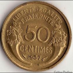 50 CENTIMES MORLON 1937