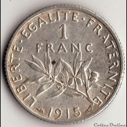1 FRANC SEMEUSE 1915