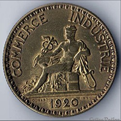 2 francs CHAMBRES DES COMM.  1920 (DOMAR...