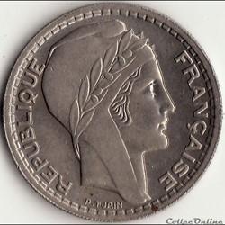 10 Francs TURIN 1947 B, GROSSE TÊTE, RAM...