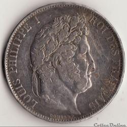 5 francs IIIème type DOMARD 1844 B