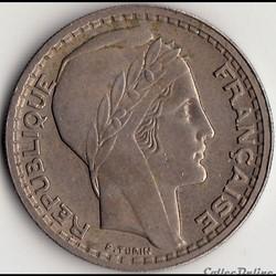 10 Francs TURIN, GROSSE TÊTE, RAMEAUX CO...