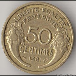 50 CENTIMES MORLON 1931, Cocarde