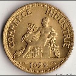 50 centimes CHAMBRES DES COMM. 1922 (DOM...