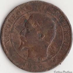 10 centimes Napoléon III tête nue 1856 M...