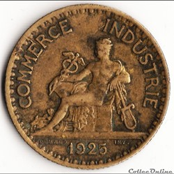 1 franc CHAMBRES DES COMM. 1925 (DOMARD)