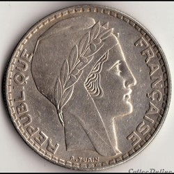 20 FRANCS TURIN 1933 RAMEAUX COURTS