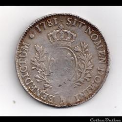 écu louis XVI 1781 M