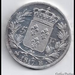 5 francs 1817 b