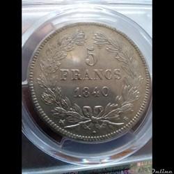 5 francs 1840 b