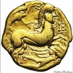 monnaie antique gauloise serie 275 dt 2116 statere au cheval marin en cimier
