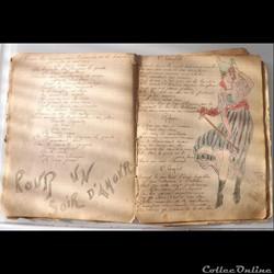cahier de chanson illustré de poilu  gue...