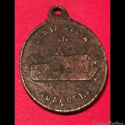 Médaille sainte Lucie de la Jonquera XIX...