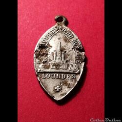 Médaille de Lourdes fin XIXème
